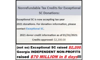 South Carolina Tax Credit Fail